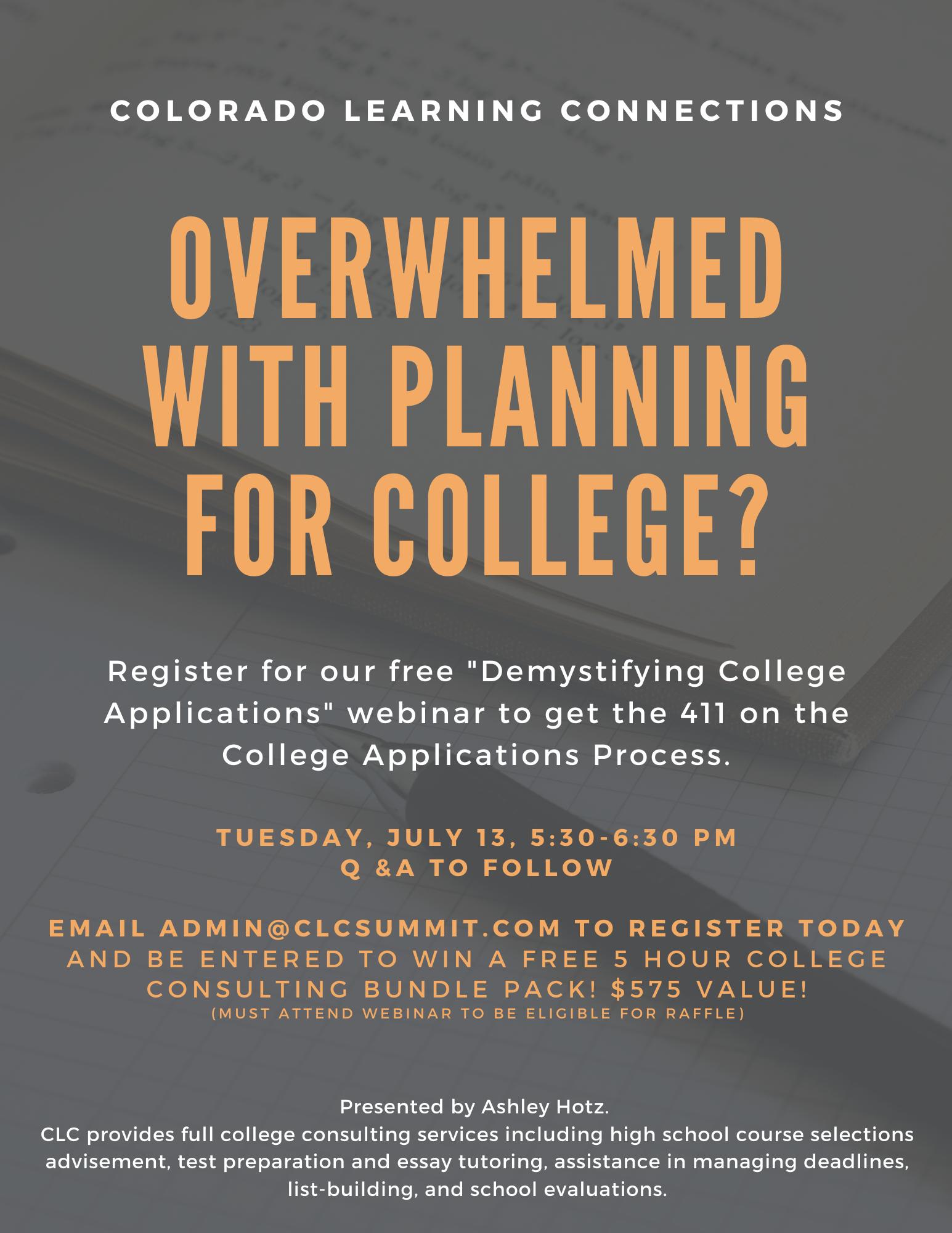 College Application Webinar 2021